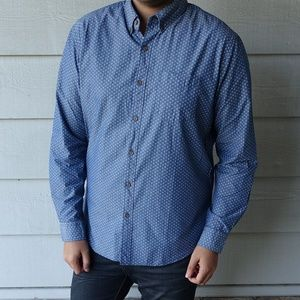 American Eagle Patterned Long Sleeve Shirt